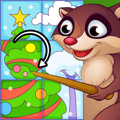 Пазлы Лесные животные - игры для детей