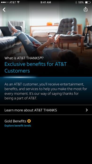 AT&T THANKS® screenshot 2