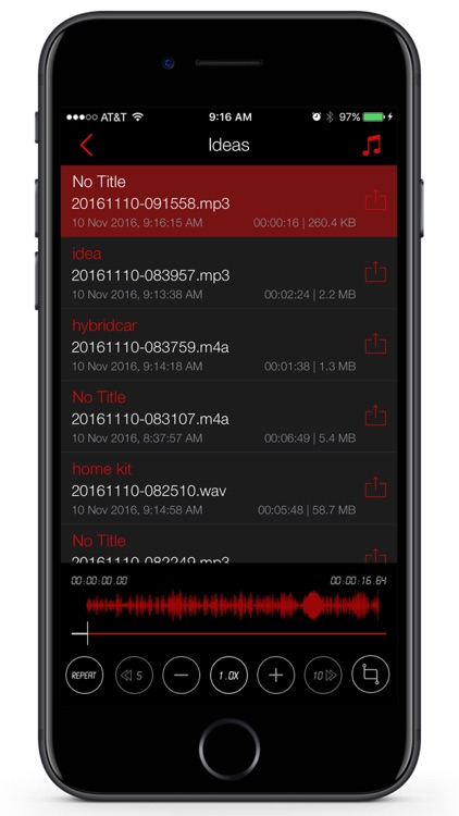 Awesome Voice Recorder Pro - Mp3 Audio Recording screenshot-2