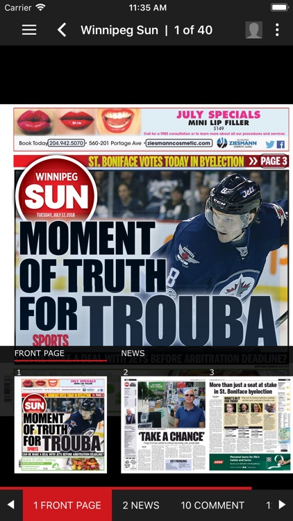 Winnipeg Sun ePaper screenshot-2