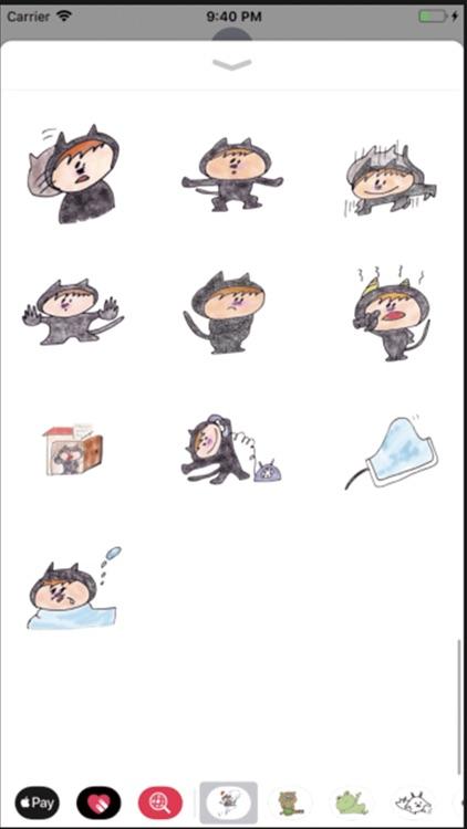 Black cat KURO 1 stickers