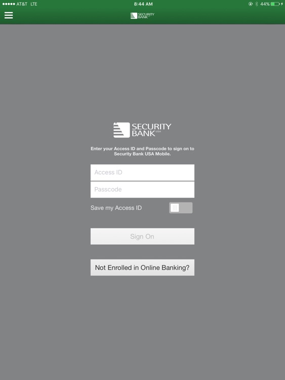 Security Bank USA Mobile for iPad