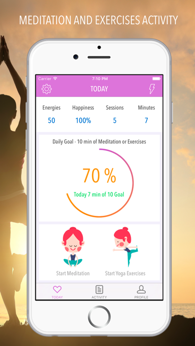 Yoga - Meditation and Workout screenshot one