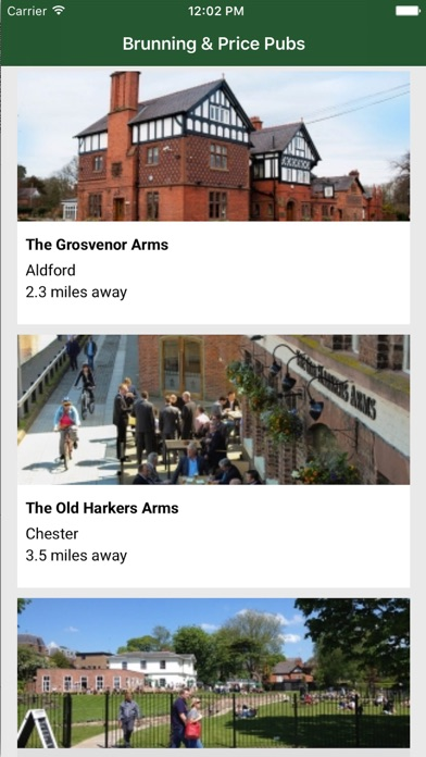 Brunning & Price Pub App screenshot one