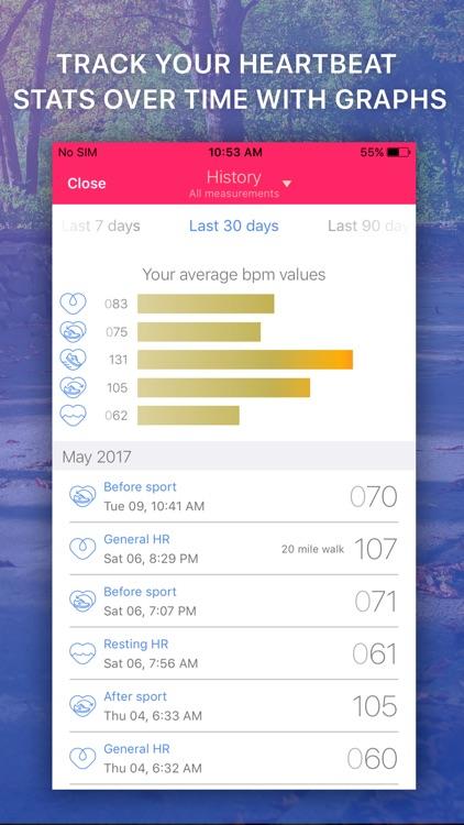Heart Rate Monitor: EKG Pulse Tracker for Cardio screenshot-3