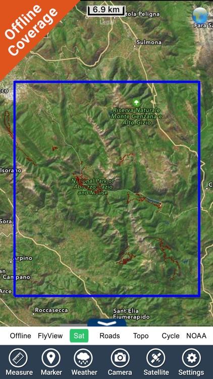 Abruzzo, Lazio e Molise National Park GPS chart screenshot-4