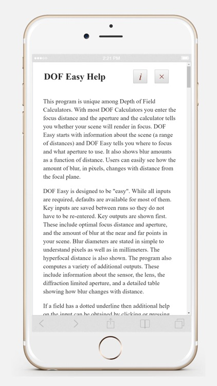 DOF Easy screenshot-3