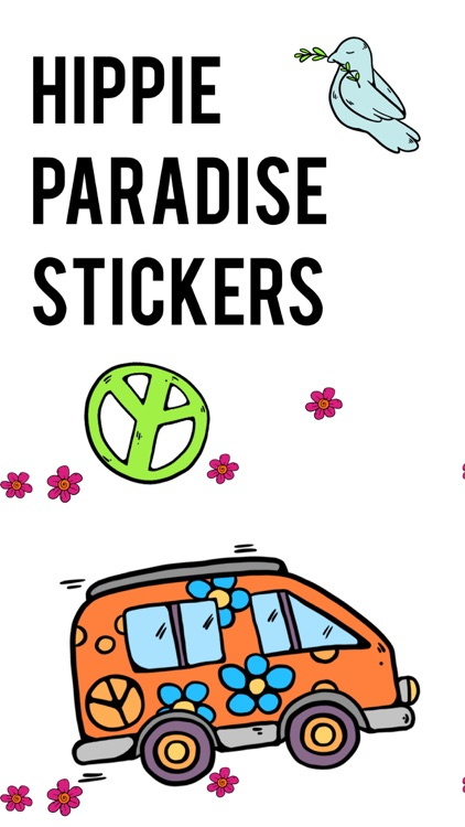 Hippie Paradise Stickers