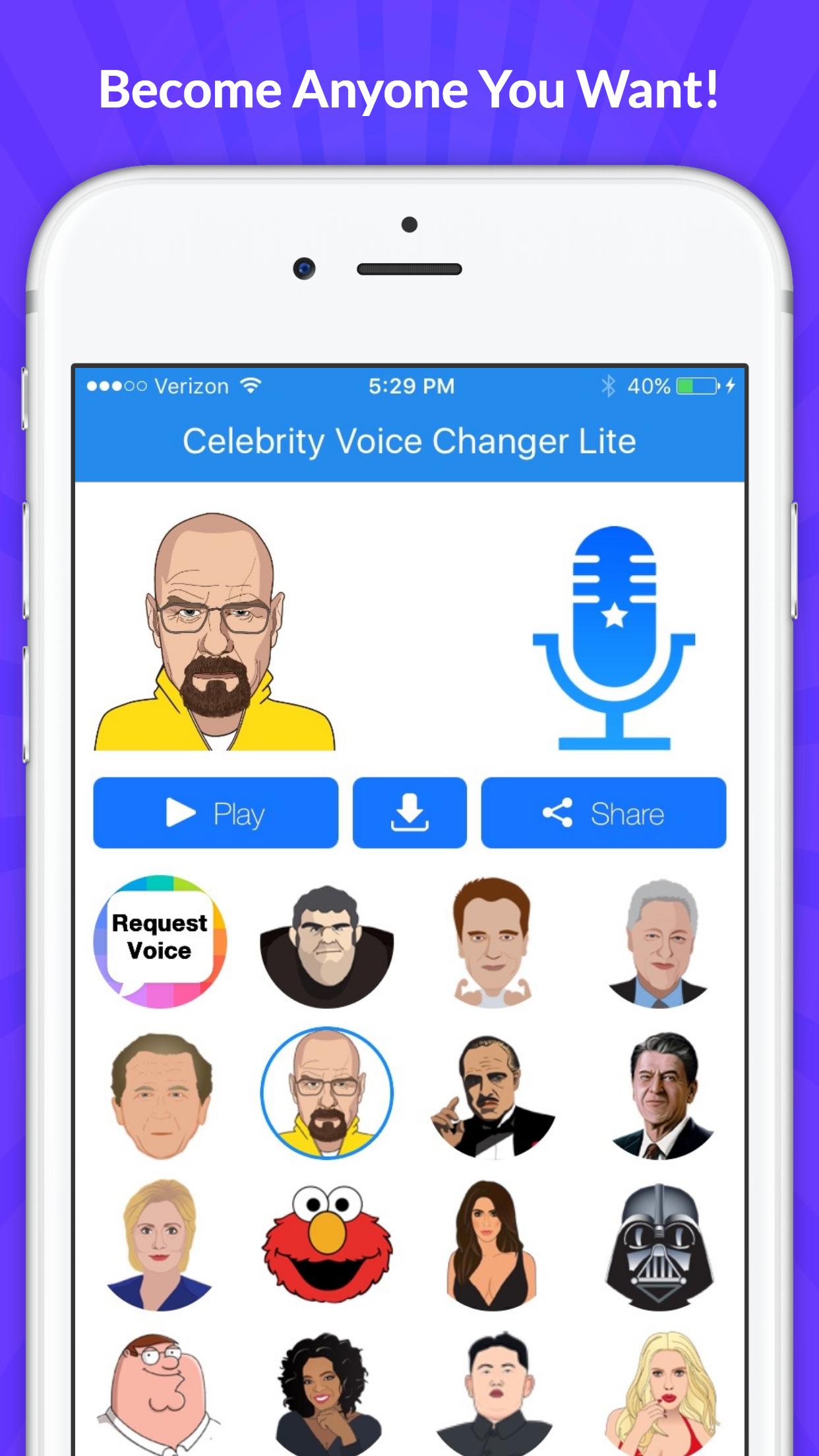 Celebrity Voice Changer -Emoji Screenshot