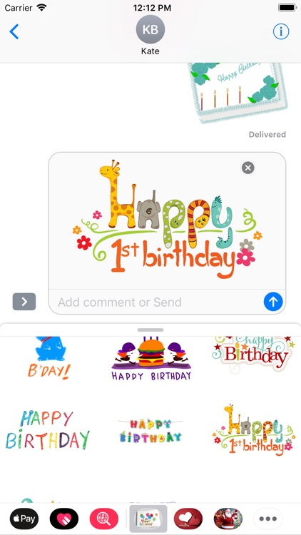 Birthday Stickers - Message screenshot-3