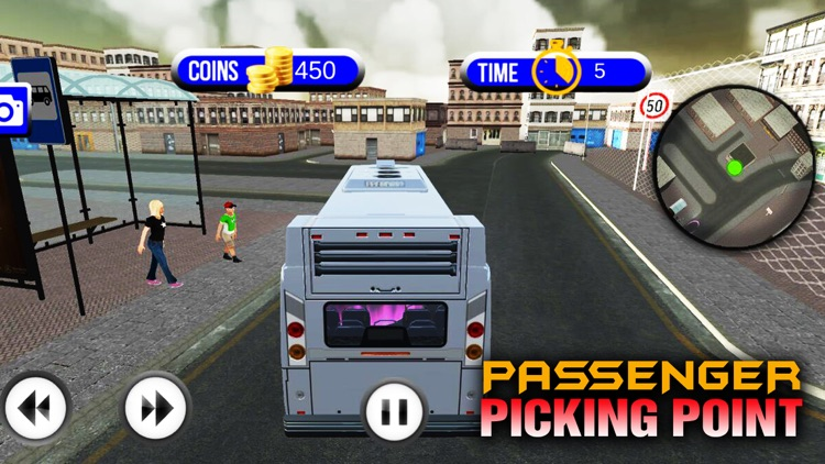 Traffic Coach Bus Simulator in US City Streets screenshot-3