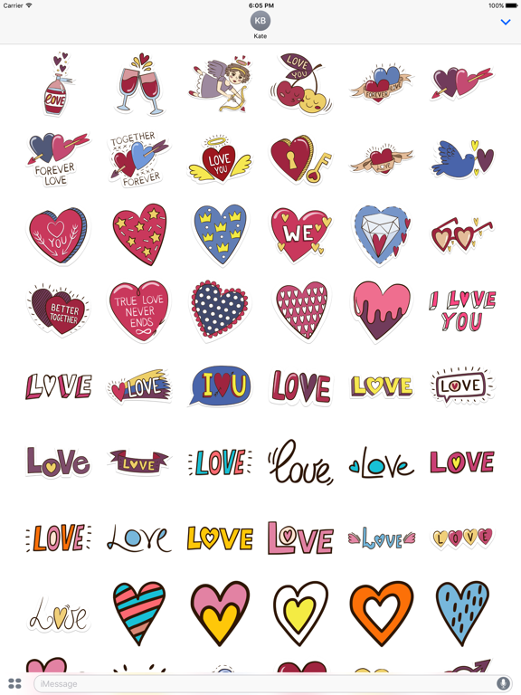 Love Stickers + Quotes - 80's Vintage & Retro Set screenshot 6
