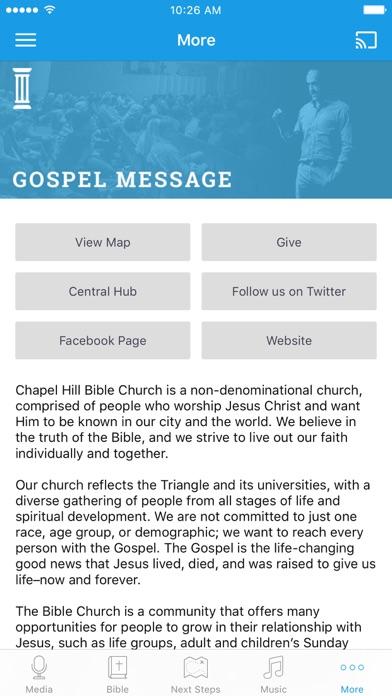 Chapel Hill Bible Church screenshot 3