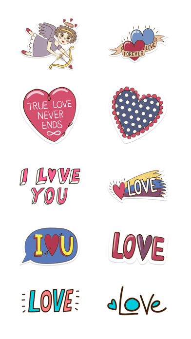 Love Stickers + Quotes - 80's Vintage & Retro Set screenshot 4