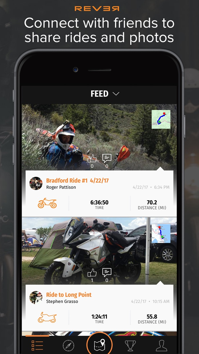 REVER: Motorcycle Routes & GPS Screenshot
