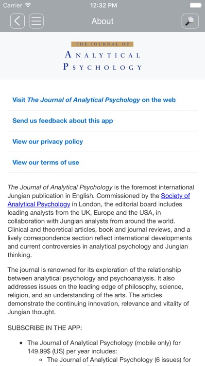 Jrnl of Analytical Psychology screenshot-2