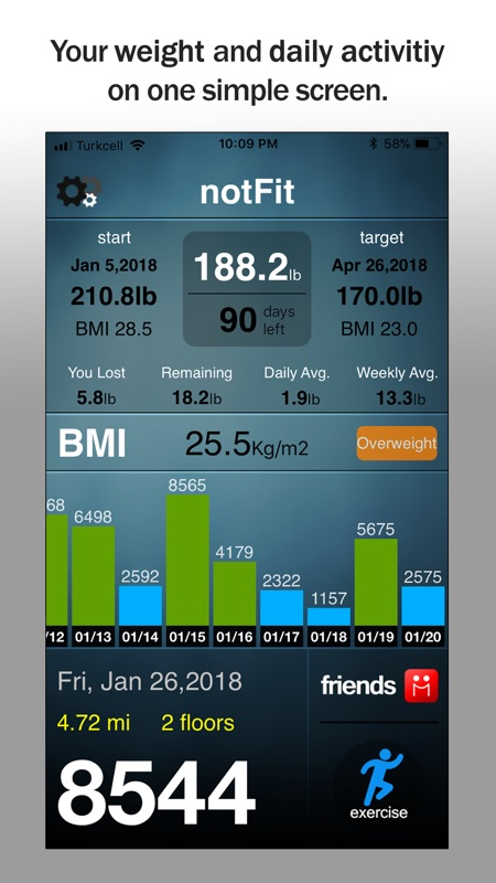 notfit pedometer weight loss online game hack and cheat gehack com