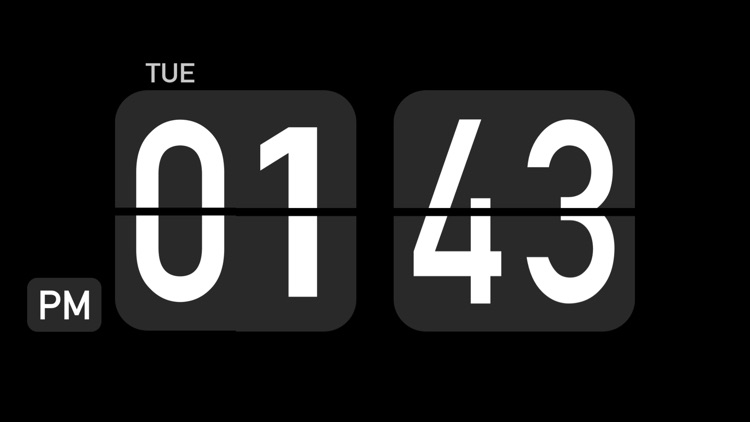Flip Clock Pro - digital clock screenshot-0