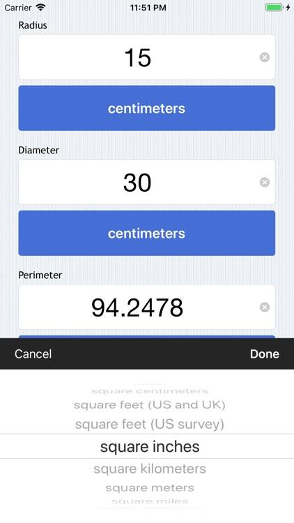 Easy Circle Calculator screenshot-4