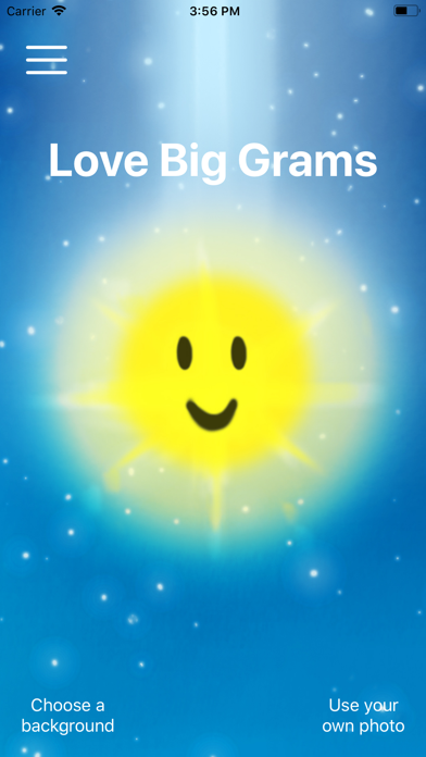 LoveBigGram screenshot one