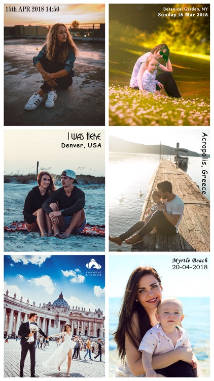 Add Text & Stamp to Photos