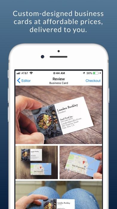 Business card maker logo app by aeos technologies inc business card maker logo app reheart Images