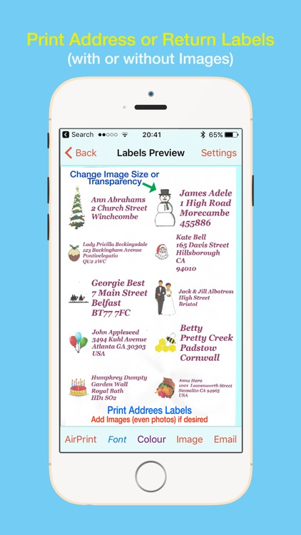 Address Labels for CardLists screenshot-0
