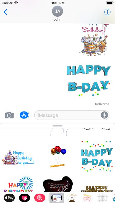 点击获取birthday animated stickers