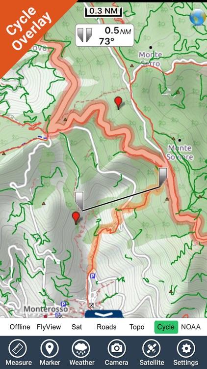 Cinque Terre National Park - GPS Map Navigator