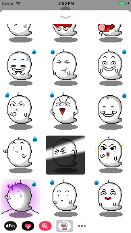 Little Ghost Animated Stickers