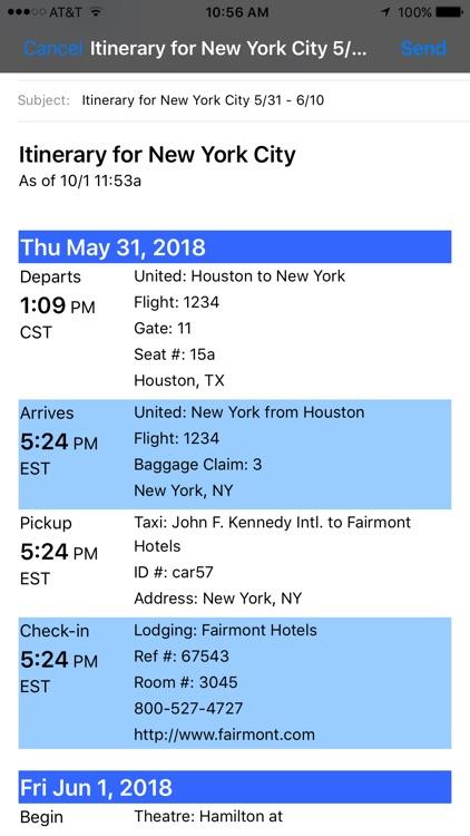 Trip Boss Itinerary manager screenshot-3