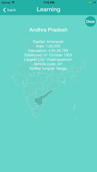India Map With Learn And Test screenshot two