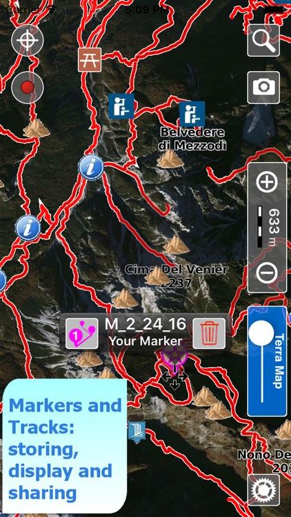Dolomiti Parks Trails Hike GPS screenshot-3