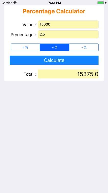 Percentage Calculator +
