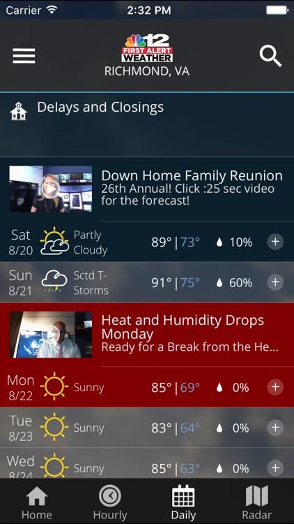 NBC12 First Alert Weather screenshot-3