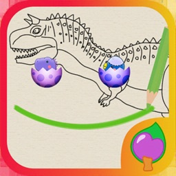 Dino line Draw - Drawing Game