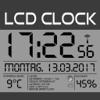 LCD Wanduhr+Wetter