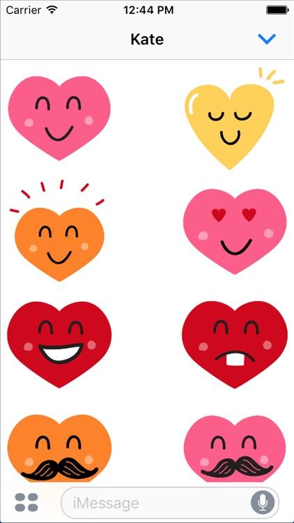 Valentine Smiles Sticker Pack