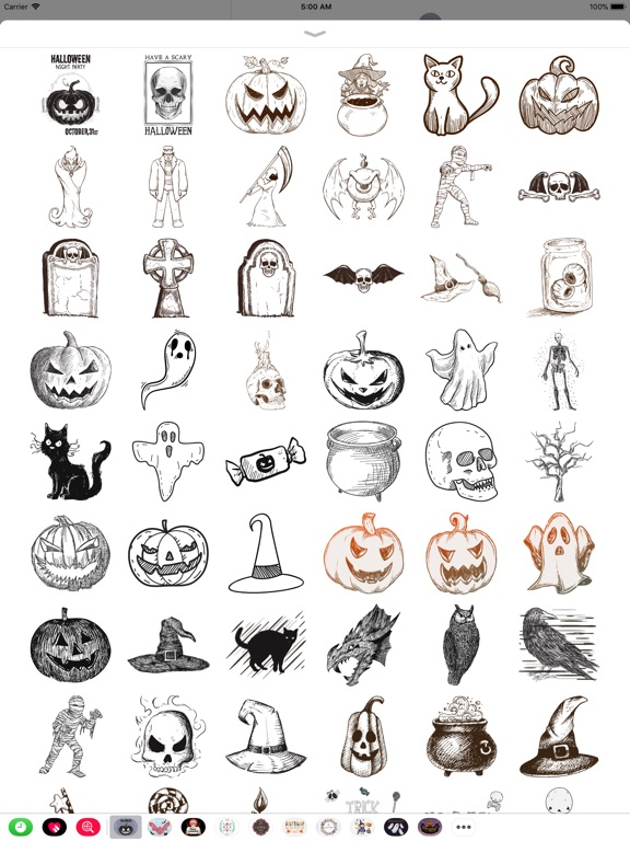 Halloween Sketch Elements screenshot 6