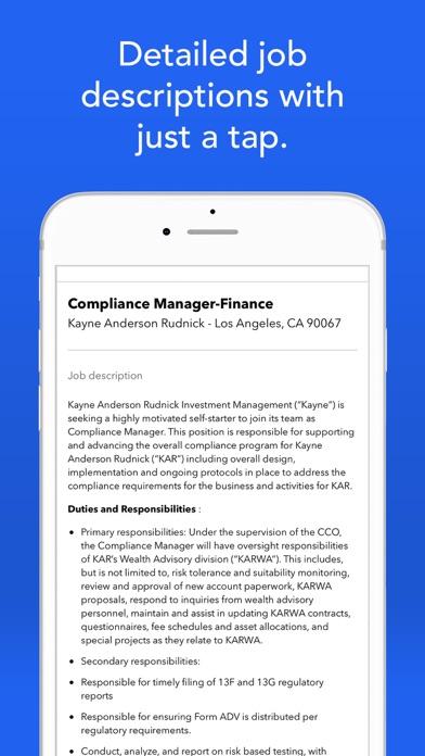 Screenshot 2 for Indeed's iPhone app'