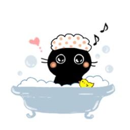 Baby Black Cat Sticker
