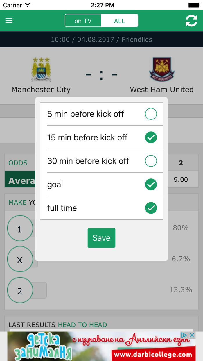 Soccer Live on TV Screenshot