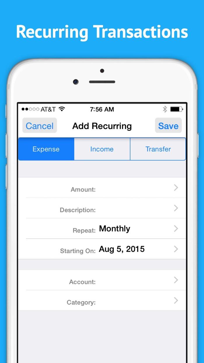 Checkbook - Ledger Screenshot
