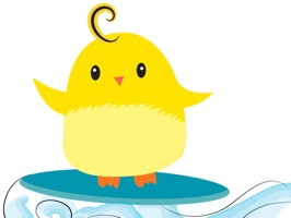 Ming Cheep is our lovable fluffy yellow chick that's ready for any adventure