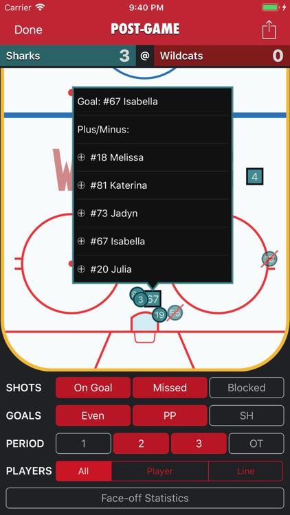 Goaliath Hockey Stats Tracker screenshot-8