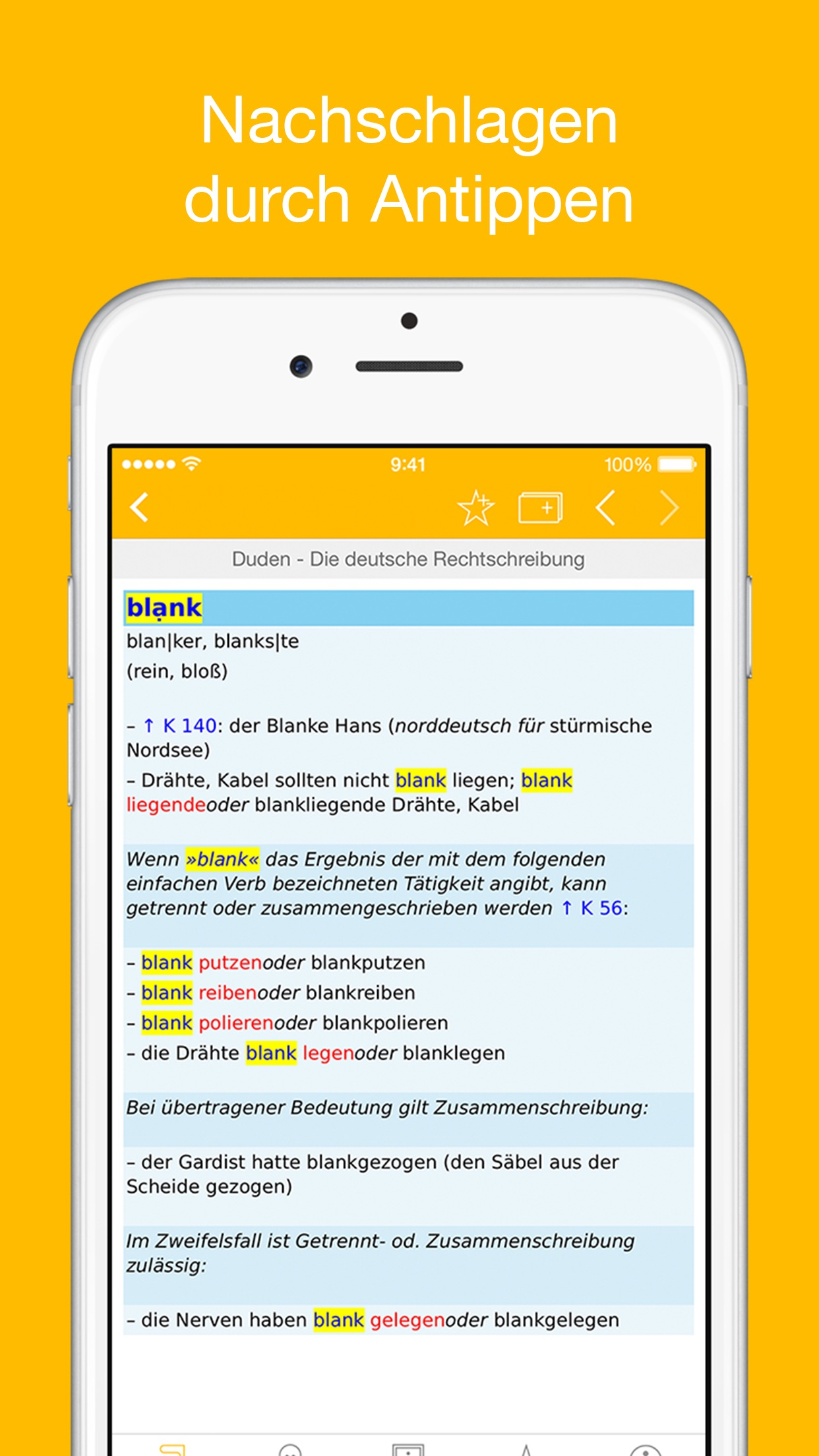 Duden Wörterbücher Deutsch Screenshot
