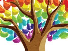 Rainbow Tree Stickers