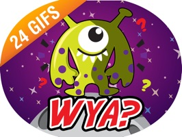 Aliens have invaded Earth to show off their new messaging technology - the Alien Invasion iSticker