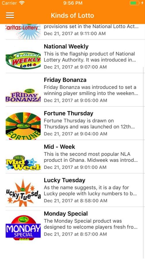 Ghana Lotto Results】应用信息- iOS App基本信息 应用截图 描述