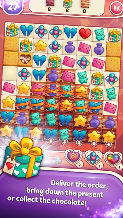 Sweet Hearts Match 3 Screenshot on iOS